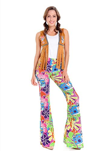 QOCAOFIG 产品名称:70S Hippie Retro Fancy Dress Costume for Women,Halloween Christmas Theme Party Cosplay Costume