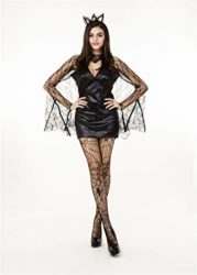 QOCAOFIG-Womens-Vampire-Bat-Halloween-Costume-Dress-UpChristmas-Theme-Party-Costume-0-3