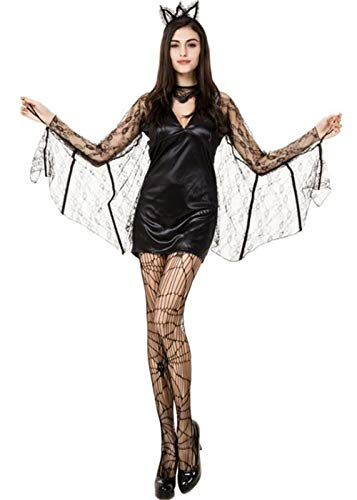 QOCAOFIG Women's Vampire Bat Halloween Costume Dress Up,Christmas Theme Party Costume