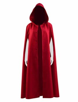 Qi-Pao-Handmaid-Womens-Cosplay-Red-Cape-Halloween-Party-Cloak-with-Hood-Costume-0-1