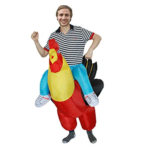 Riding Rooster Inflatable Giant Costume Halloween Carnival Fun Cosplay Toy Family Party Trick