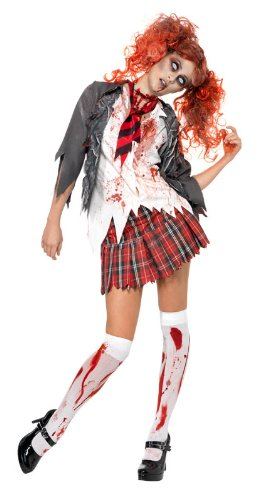 Smiffy's Women's High School Horror Zombie Girl Costume