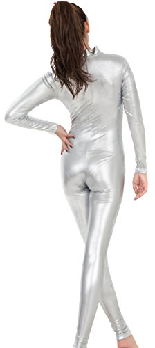 Speerie-Womens-Shiny-Metallic-Lycar-Spandex-Zip-up-Catsuit-Unitard-0-0