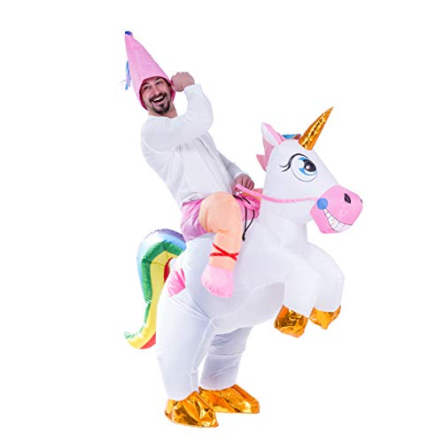 Spooktacular-Creations-Inflatable-Costume-Unicorn-Riding-a-Unicorn-Air-Blow-up-Deluxe-Halloween-Costume-Adult-Size-0-0