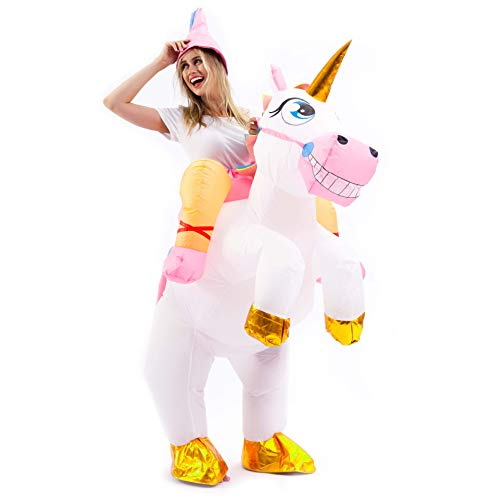 Spooktacular-Creations-Inflatable-Costume-Unicorn-Riding-a-Unicorn-Air-Blow-up-Deluxe-Halloween-Costume-Adult-Size-0-1