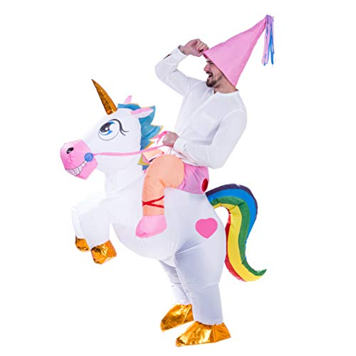 Spooktacular-Creations-Inflatable-Costume-Unicorn-Riding-a-Unicorn-Air-Blow-up-Deluxe-Halloween-Costume-Adult-Size-0-2
