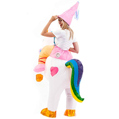 Spooktacular-Creations-Inflatable-Costume-Unicorn-Riding-a-Unicorn-Air-Blow-up-Deluxe-Halloween-Costume-Adult-Size-0-4
