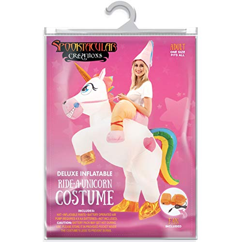 Spooktacular-Creations-Inflatable-Costume-Unicorn-Riding-a-Unicorn-Air-Blow-up-Deluxe-Halloween-Costume-Adult-Size-0-5