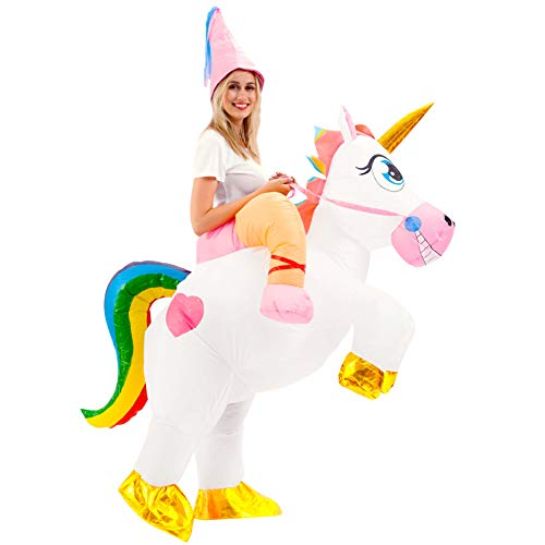 Spooktacular-Creations-Inflatable-Costume-Unicorn-Riding-a-Unicorn-Air-Blow-up-Deluxe-Halloween-Costume-Adult-Size-0