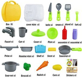 SunRise-26-PCS-Set-of-Pretend-Kitchen-Food-Playset-for-Kids-and-21-PCS-Makeup-for-Girls-Pretend-Play-Dress-up-Toy-Kit-0-0