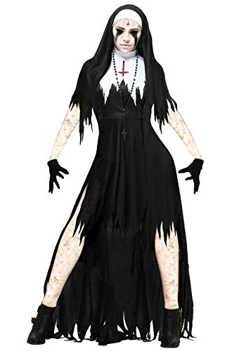 The Nun Costume Adult The Scarist Ghoulish Witch Uniform Halloween Party
