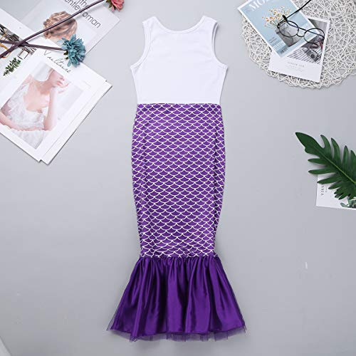 TiaoBug-Kids-Girls-One-Piece-Shell-Mermaid-Costume-Long-Dress-For-Halloween-Cosplay-Party-0-0