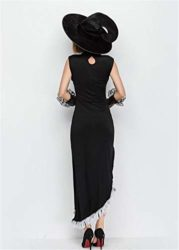 Tiaoqi-Women-Halloween-Classic-Black-Hollow-Sorceress-Witch-Costume-with-Hat-0-3