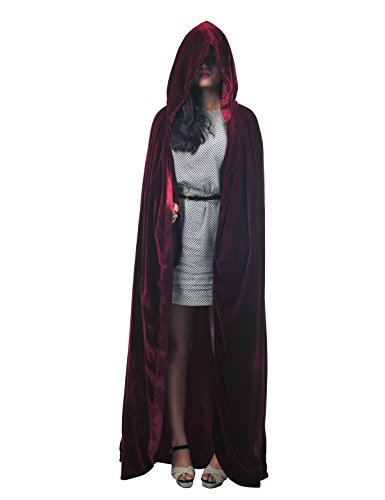 Topwedding Christmas Deluxe Hooded Cloak Adult Halloween Costumes Capes(S-XXL)