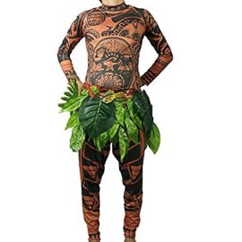 Tribal-Tattoo-T-ShirtPants-Halloween-Clothing-Sets-Adult-Mens-Women-Cosplay-Costume-0-0