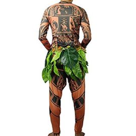 Tribal-Tattoo-T-ShirtPants-Halloween-Clothing-Sets-Adult-Mens-Women-Cosplay-Costume-0-1