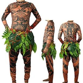 Tribal-Tattoo-T-ShirtPants-Halloween-Clothing-Sets-Adult-Mens-Women-Cosplay-Costume-0