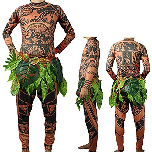 Tribal Tattoo T Shirt/Pants Halloween Clothing Sets Adult Mens Women Cosplay Costume