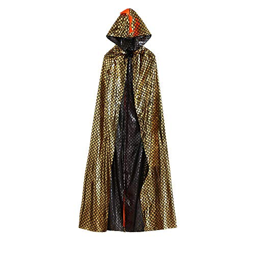 Tunic Hooded Robe Cloak Dinosaur Fancy Dress Halloween Masquerade Cosplay Costume Cape