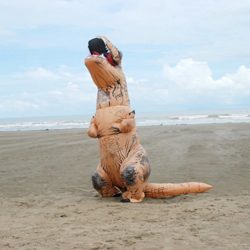 Unisex-Adult-Blow-up-T-Rex-Dinosaur-Inflatable-Halloween-Cosplay-Costume-Outfit-Fancy-Dress-0-5