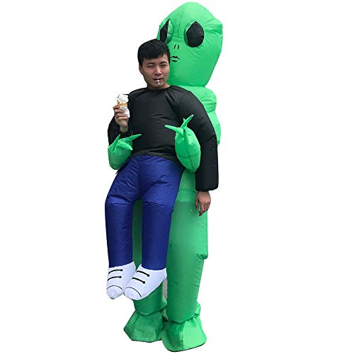Unisex Adult Blow up T-Rex Dinosaur Inflatable Halloween Cosplay Costume Outfit Fancy Dress