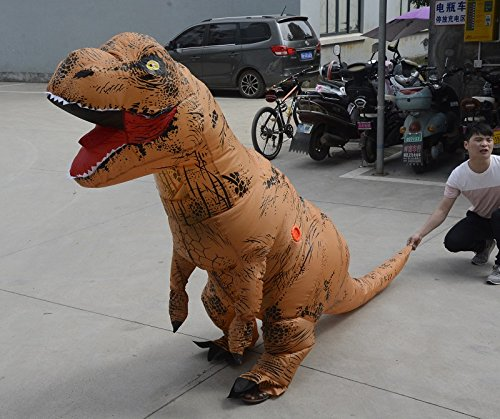 Unisex-Adult-T-Rex-World-Inflatable-Dinosaur-Costume-Blow-up-Fancy-Funny-Dress-0-3