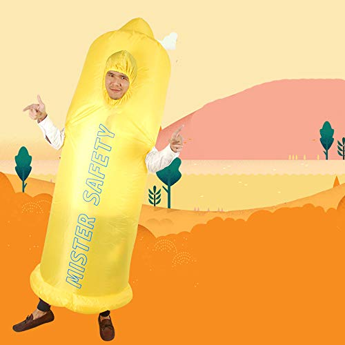 Unisex-Adults-Inflatable-Condom-Costume-Halloween-Blow-up-Fancy-Dress-0-0