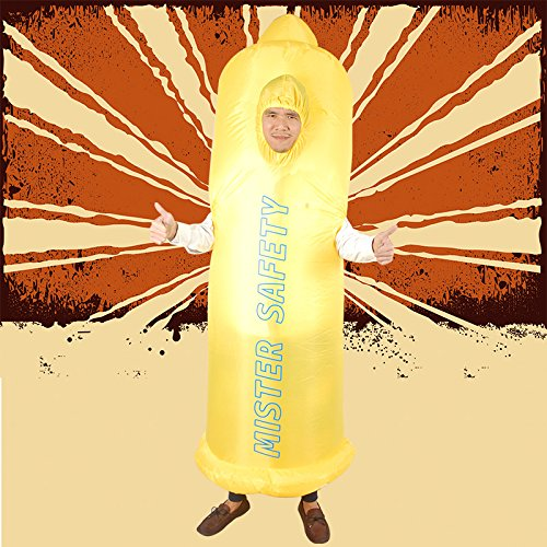 Unisex-Adults-Inflatable-Condom-Costume-Halloween-Blow-up-Fancy-Dress-0-3