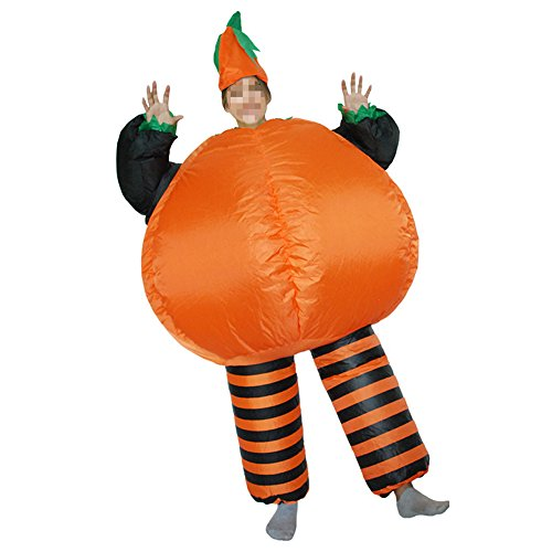 Vantina Inflatable Pumpkin Costume Suit Halloween Fancy Dress Jumpsuit Cosplay