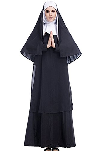 Wecos Halloween Costume Pirate/Nun/Police Women/Greek Goddess/Ninjia Cosplay