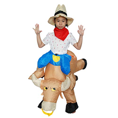 Western Cowboy Inflatable Giant Costume Halloween Carnival Fun Cosplay Toy Family Party Trick