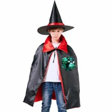 Wodehous-Adonis-Mermaid-Scale-Skull-Kids-Halloween-Costume-Cape-Witches-Cloak-Wizard-Hat-Set-0