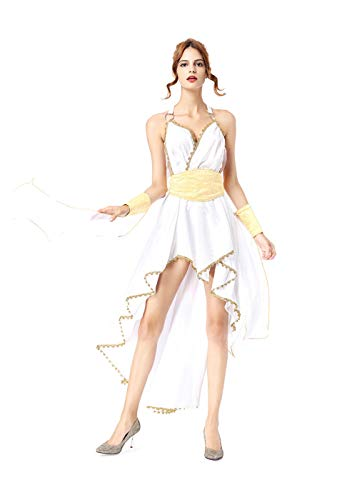 Women Halloween Greek Costume Goddess Dress, Masquerade Cosplay Dress