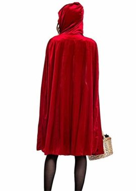 Women-Halloween-Riding-Hood-Costume-Set-Red-Cape-and-Dress-Cosplay-Party-0-0