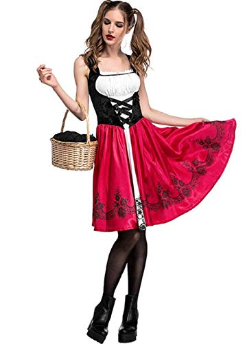 Women-Halloween-Riding-Hood-Costume-Set-Red-Cape-and-Dress-Cosplay-Party-0-1