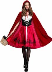 Women-Halloween-Riding-Hood-Costume-Set-Red-Cape-and-Dress-Cosplay-Party-0