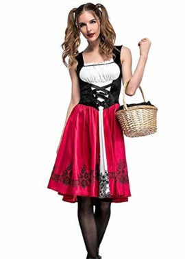 Women-Halloween-Riding-Hood-Costume-Set-Red-Cape-and-Dress-Cosplay-Party-0-3