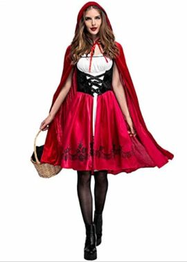 Women-Halloween-Riding-Hood-Costume-Set-Red-Cape-and-Dress-Cosplay-Party-0-4