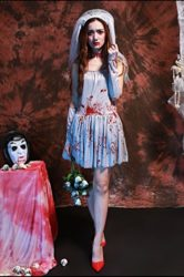 Womens-Dead-Zombie-Bloody-Costume-White-Ghostly-Dress-0-0