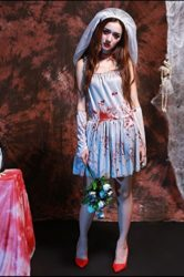 Womens-Dead-Zombie-Bloody-Costume-White-Ghostly-Dress-0-1