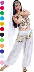 Womens-Halloween-Carnival-Costumes-Accessories-Belly-Dance-Performance-Outfit-White-0