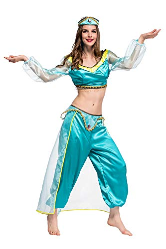 Womens-Halloween-Magic-Lamp-Arab-Cosplay-Costume-Green-Game-Anime-Dress-Fancy-Role-Up-0-0