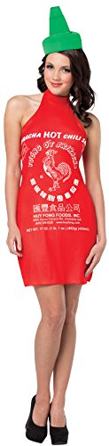 Women's Sriracha Hot Chili Sauce Outfit Funny Theme Party Costume