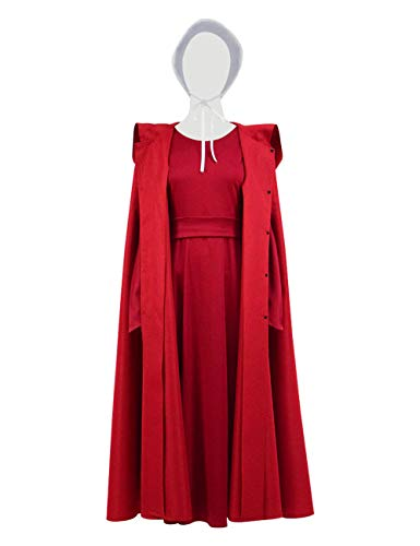 YANGGO Women Hooded Red Cloak Cape Adult Tunic Dress Outfit for Christmas Halloween Costume US Size