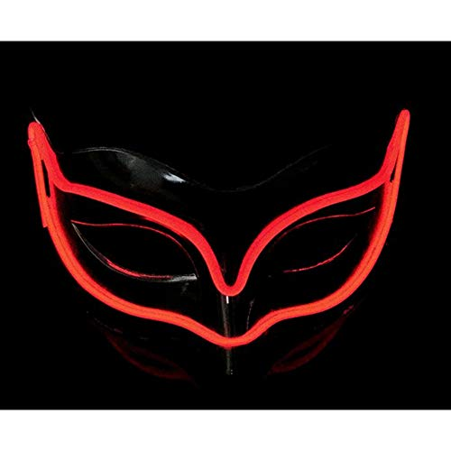 YQDong Men's Halloween Funny El Wire Cosplay Eye LED Mask Festival Evening Party Mask