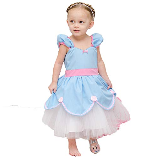 alkky Princess Belle Baby Girl Dress Cinderella Rapunzel Mermaid Party Costumes for Toddler Girls