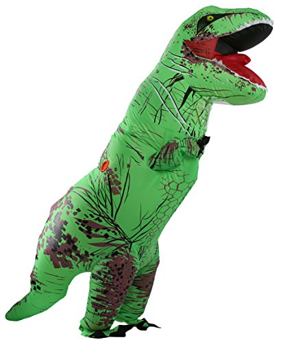 caringgarden-Unisex-Jurassic-T-Rex-Inflatable-Costume-Dinosaur-Fancy-Dress-Green-Adult-Size-0