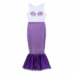 dPois-Kids-Girls-Mermaid-Scales-Printed-Sleeveless-Long-Dress-Halloween-Theme-Party-Fancy-Costumes-0-2