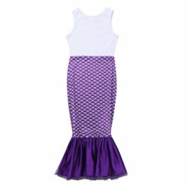 dPois-Kids-Girls-Mermaid-Scales-Printed-Sleeveless-Long-Dress-Halloween-Theme-Party-Fancy-Costumes-0-3