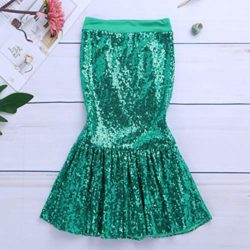 iiniim-Children-Girls-Sequined-Little-Mermaid-Tail-Costumes-Party-Long-Skirt-Halloween-Cosplay-Fancy-Dress-up-Clothes-0-4